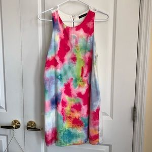 Watercolor shift dress